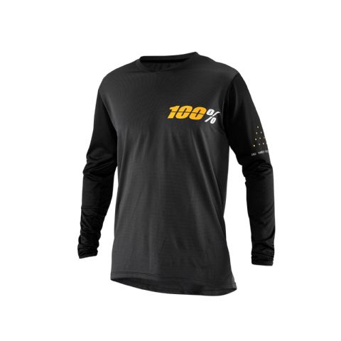 100% Ridecamp Long Sleeve Jersey Charcoal